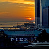 Pier 17 at sunset, NYC