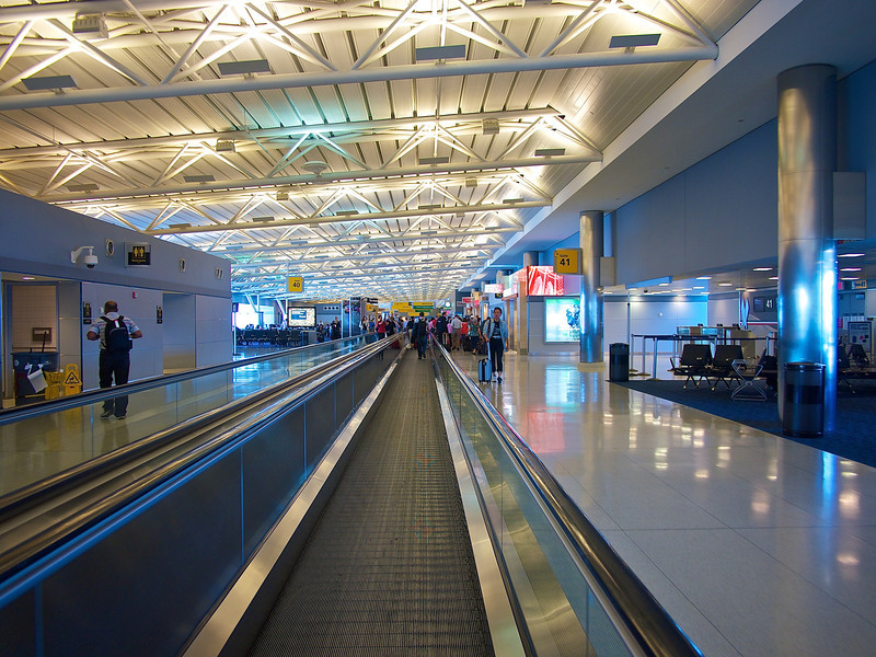 Leading Lines through the Terminal, JFK Airport - Queens, New York