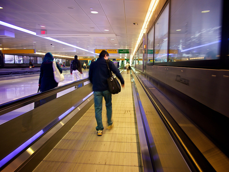 Moving Sidewalk, JFK Airport - Queens, New York