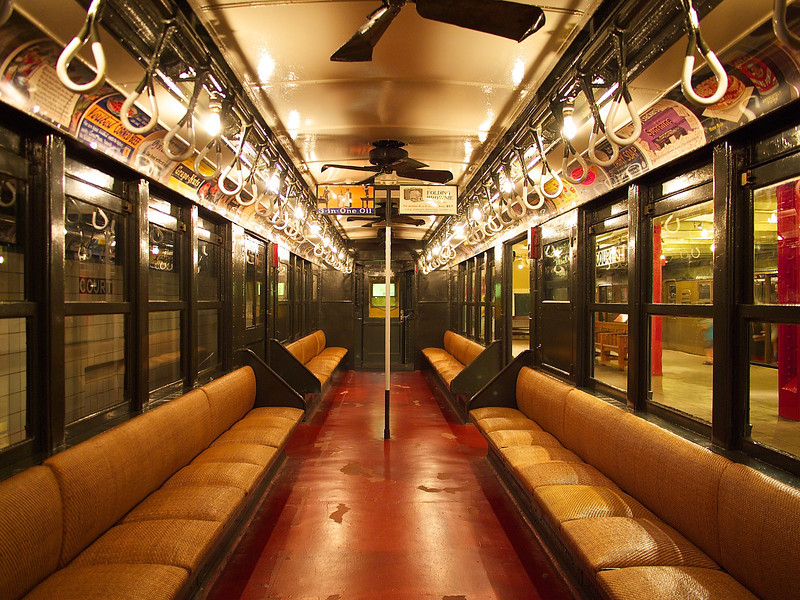 Interior, 1917 Lo-V Subway Car - Brooklyn, New York