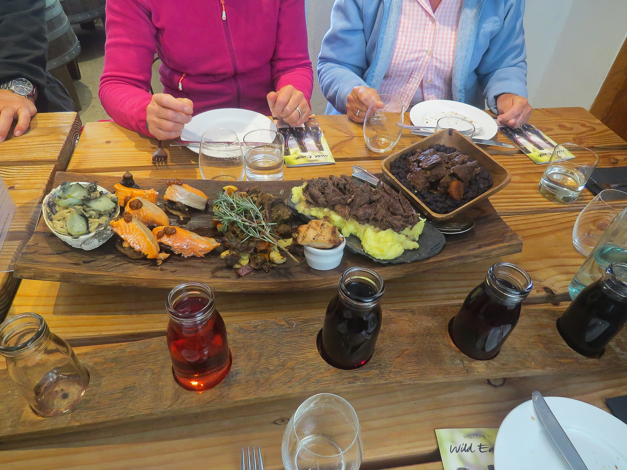 Five courses and five wines at Wild Earth