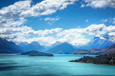 Shades of BlueLake Wakatipu, New Zealand