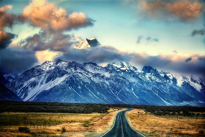 Cook's Road Mt. Cook, New Zealand  Was it the road to doom or ultimate freedom? The only way to know, she realized, was to embark on the journey. With eyes and ears open.