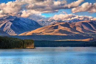 Facing ForwardLake Pukaki, New Zealand  There is gold in them thar hills...  and in the choice to stand tall, looking forward.  I learned that from my mom - and from life.