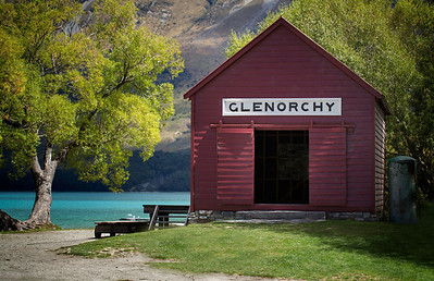 Clearly GlenorchyGlenorchy, New Zealand  When I think of Glenorchy, this is what I imagine.   The red barn. That green tree on the left. The glacier blue lake.  Sometimes simple is simply the best.