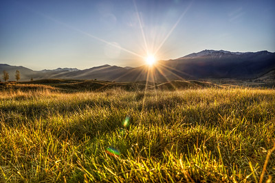 Sundown Across the Field