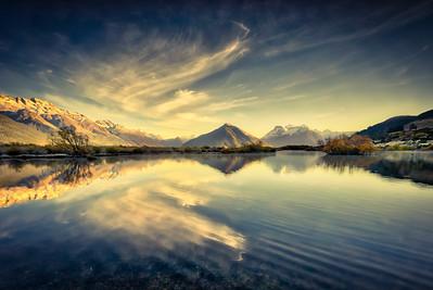 End of Lake Wakatipu