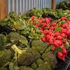 Fresh broccoli and radishes at Tanaka Farms