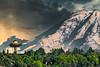 Mt. Rainier with Space Needle