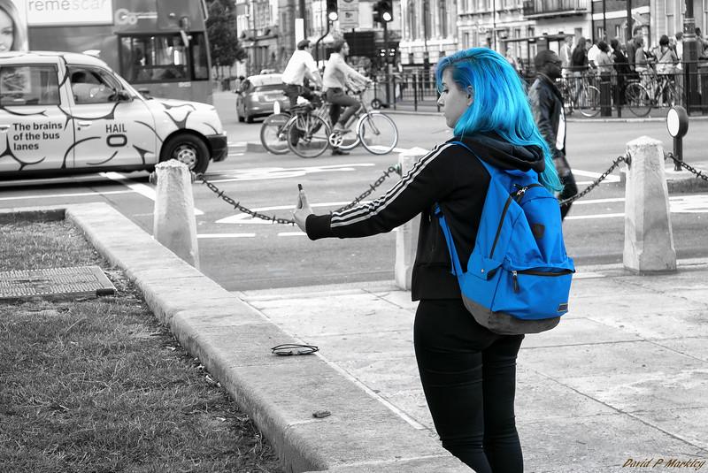 Blue Selfie