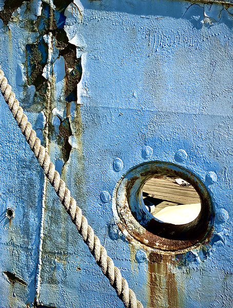 Texture on Old Fishing Boat