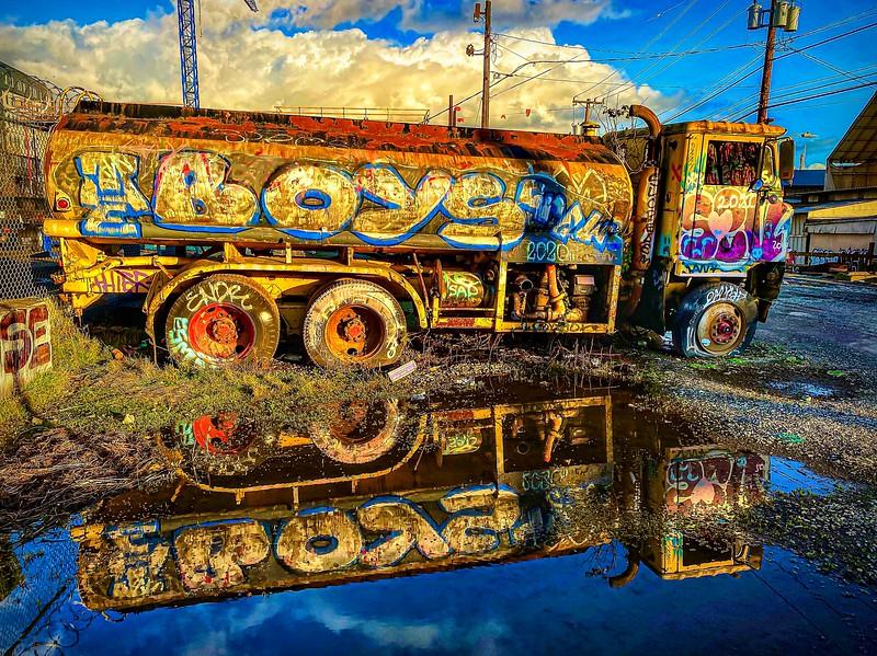 """The Boys"" Graffiti Truck, Seattle."