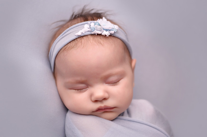 Blue Newborn portrait <br /> Houma/ Thibodaux newborn baby  photographer