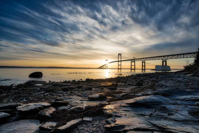Pell Bridge Warm Sunshine