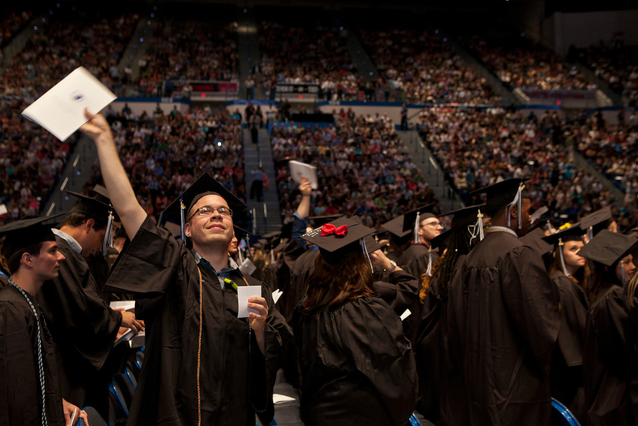 Central Connecticut State University's Commencement Exercizes for the 2014 graduating class took place at the the XL Center Saturday morning.