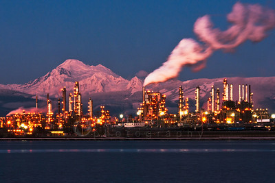 Mount Baker and Tesoro Refinery