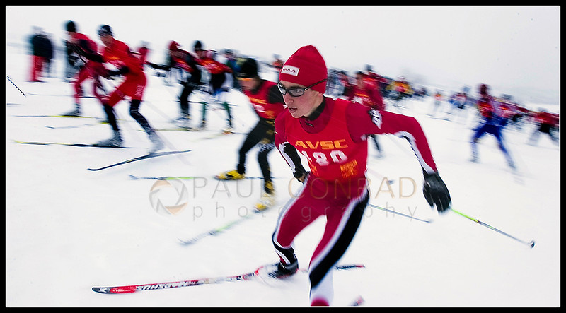 © Paul Conrad/Pablo Conrad Photography - Cross country phenom Noah Hoffman of Aspen, Colo., bolts from the start area on his way to a 2nd Place win. Due to his cross-country skiing abilities, Hoffman has garnered a spot on the U.S. Ski Team.