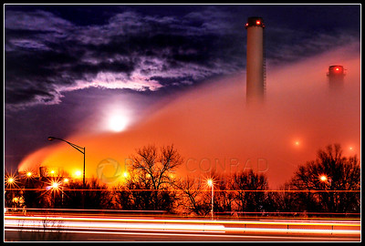 © Paul Conrad/Pablo Conrad Photography - Bitter cold temperatures create massive clouds of steam as the stiff winds blow it from the Martin Drake Power Plant in Colorado Springs, Colo., on Wednesday evening Jan. 19, 2011.   (© Paul Conrad/Paul Conrad Photography)