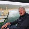 Western Cape MEC Alan Winde visits the site where the Kiani Satu went aground  at Goukamma Nature Reserve near Buffels Bay in August 2013.