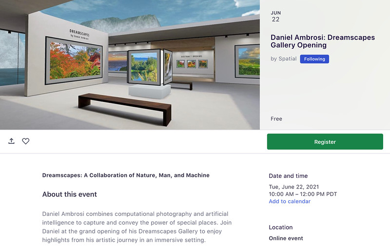 Dreamscapes Gallery Opening in Spatial XR