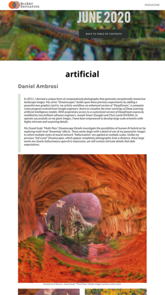 New Dreamscapes featured in SciArt Magazine