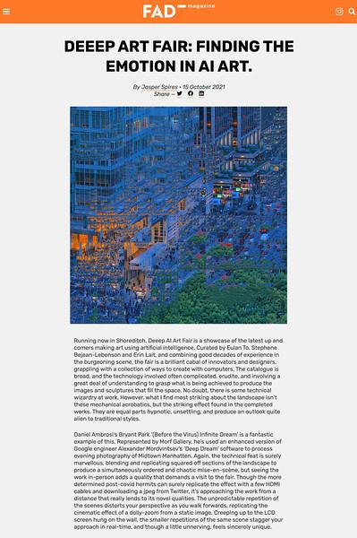 Dreamscapes at deeep AI Art Fair