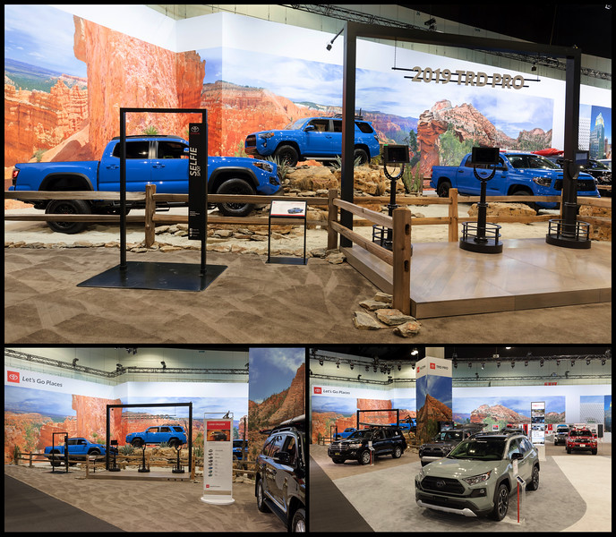 Scenic Backdrop & Column Wrap for Toyota 2018 LA Auto Show