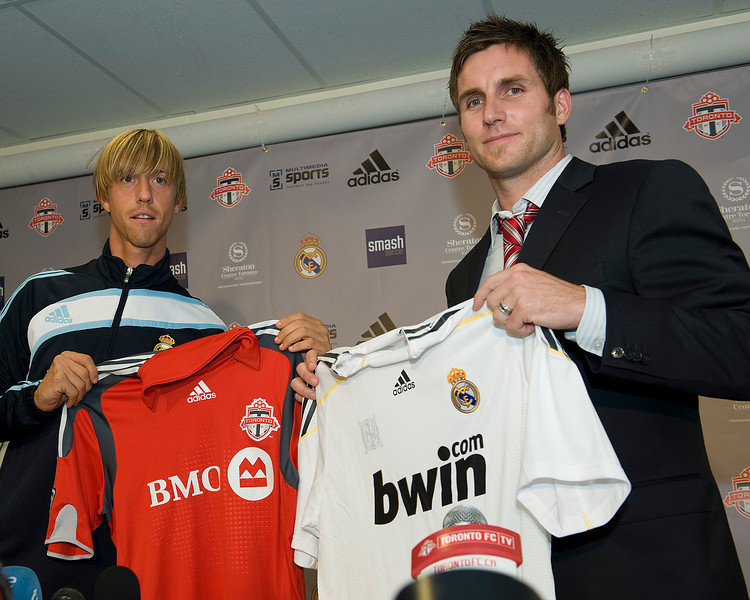 06 August 2009: Real Madrid Press Conference BMO Field Toronto, Ontario Canada.