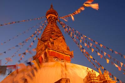 Night in Kathmandu, Nepal.