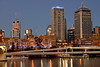 Evening view of Brisbane, Australia.