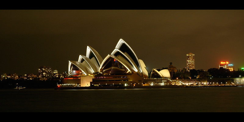 Night shot of the Sydney Opera House. The opera house is an UNESCO World Heritage Site since 2007. Designed by Danish architect Jørn Utzon, the Sydney Opera House is one of the world's most distinctive 20th century buildings, and one of the most famous performing arts venues in the world. It is situated on Bennelong Point in Sydney Harbour, close to the Sydney Harbour Bridge. The building and its surroundings are one of the best known icons of Australia. Sydney, New South Wales (NSW), Australia