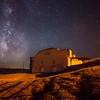 Tallgrass Prairie Barn with Milky Way
