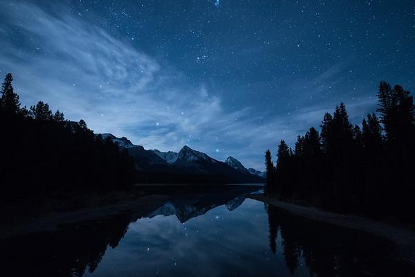 Lake Maligne Moonrise