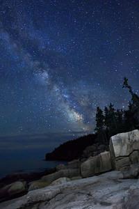 Otter Cliffs Milky Way