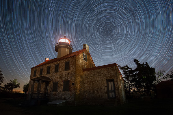 East Point Lighthouse Star Trails