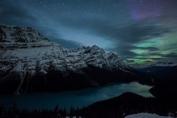 Peyto Lake Aurora