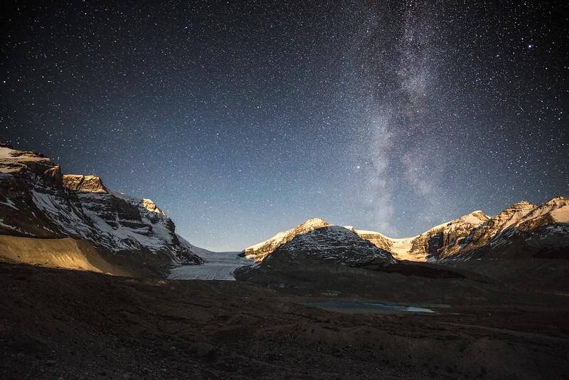 Athabasca Glacier Moonrise