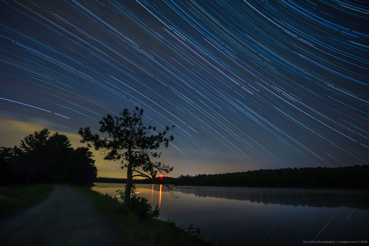 Ashley Reservoir Star Trails