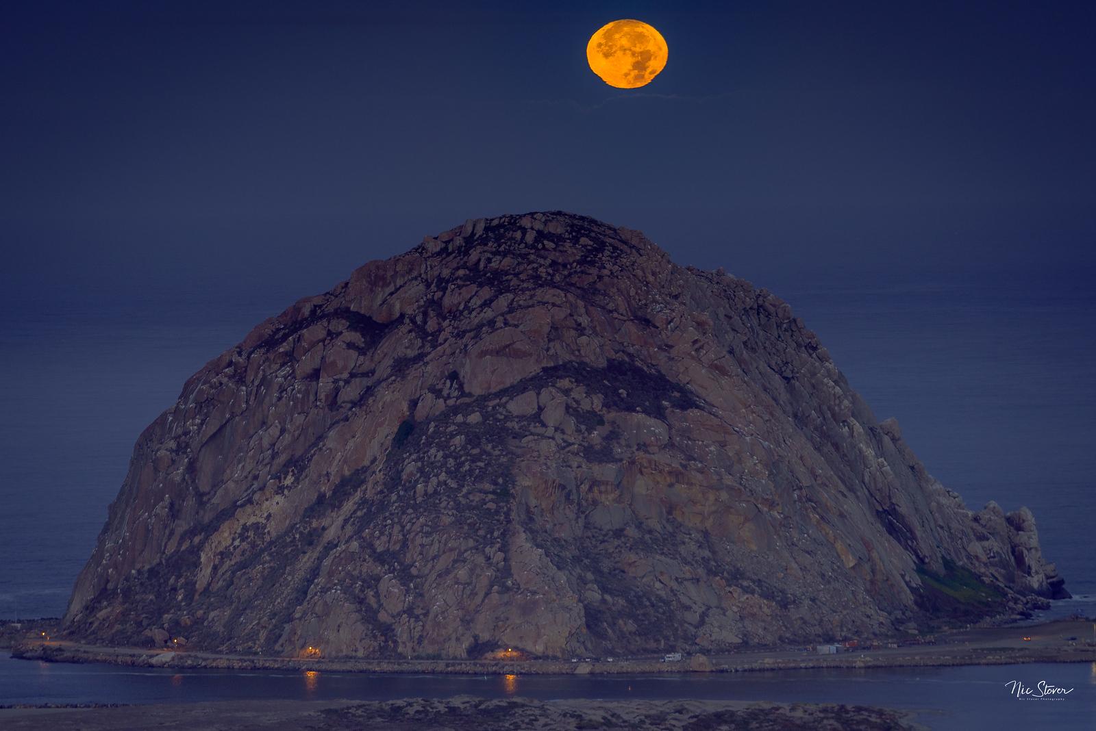Supermoon Over Morro Rock
