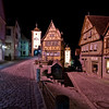 Famous Up and Down street in medieval town of Rothenburg ob der Tauber
