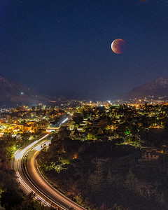 Bloodmoon over San Luis Obispo
