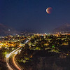 Bloodmoon over San Luis Obispo