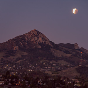 Lunar Eclipse over Bishop Peak San Luis Obispo