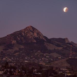 Lunar Eclipse over Bishop Peak San Luis Obispo