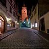 Narrow Street in Rothenburg ob der Tauber