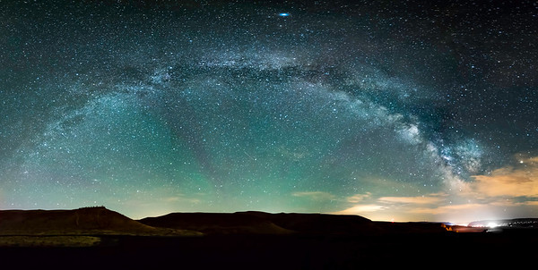 Milky Way Arch over Wild Horses Monument, WA