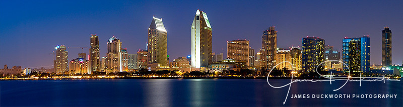 San Diego Skyline Blue