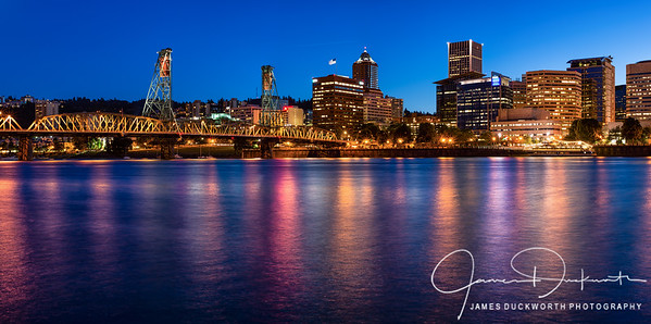 Portland, Oregon Skyline at the Blue Hour