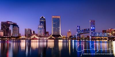 Jacksonville Skyline Panorama