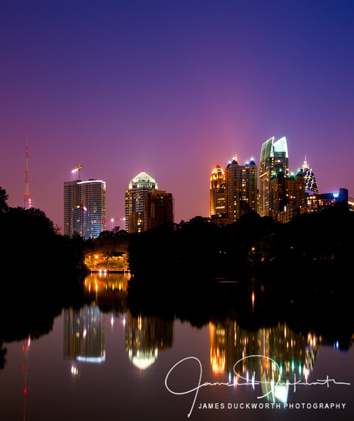 Atlanta's midtown skyline from Piedmont Park.